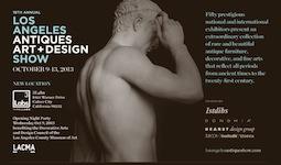 Los Angeles Antiques, Art + Design Show returns Oct 9-13, 2013
