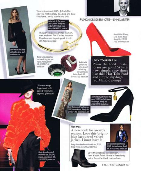 David Meister's Fashion Column
